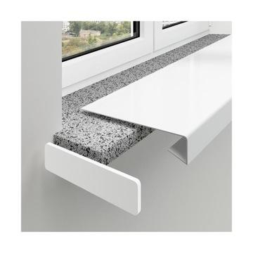 Biele prekrytie pre renovačný parapet z PVC
