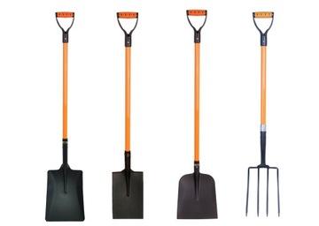 Sada SOTKA ORANŽOVÁ: rýľ, vidlička, lopata x 2