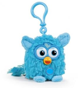 Furby Plush Keychain Blue Maskot