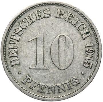 + Nemecko - Empire - 10 Pfennig 1915 G - Zriedkavé
