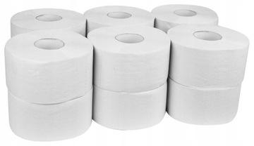 Jumbo Biely toaletný papier 2-vrstvy 12 Valce