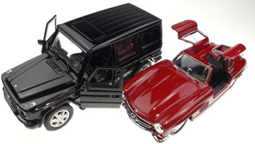 Mercedes + Mercedes + Metal Laweta Modely 1:34