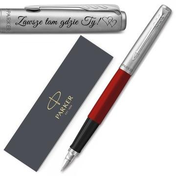 Fontánový pen Parker Jotter 60 červená s gravírovaním