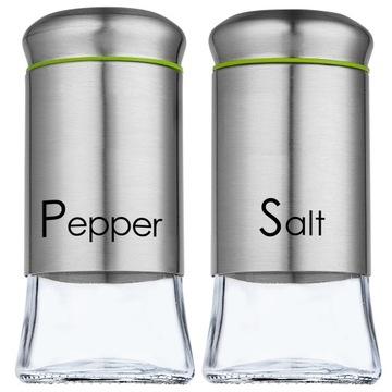 Sada Saltball a Pepper Glass Steel 2x150ml