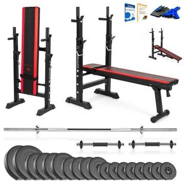 Xylo Gym 82 kg Bench Set + Gryfy + LOAD