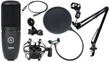 AKG P120 Studio Kapacitný mikrofón XLR SET3