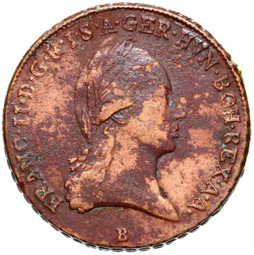 + Rakúsko - Franciszek II - 3 KRAJCARY 1799 B