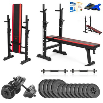 Xylo Gym 36 kg Bench Set + Gryfy + LOAD