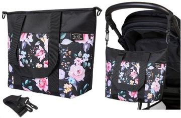 Mio bebe POĽSKO veľká taška na vozík FIORI BLACK