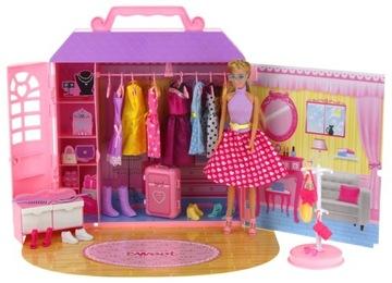 Šatňa Doll House Šatník Nábytok Doll 30cm