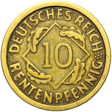 + Nemecko - WEIMAR - 10 RENTENPFENNIG 1923 F