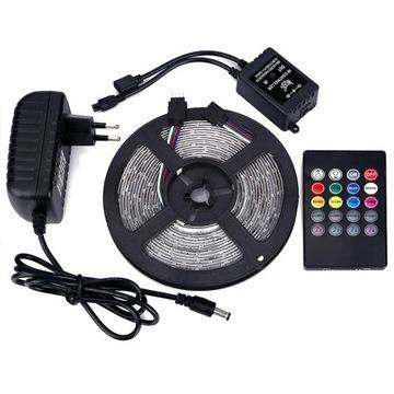 RGB 3528 300LED + Hudobný radič + W-WA Diaľkové ovládanie