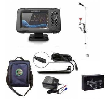 Fishfinder s GPS Lowrance HOOK Reveal 5 HDI Set