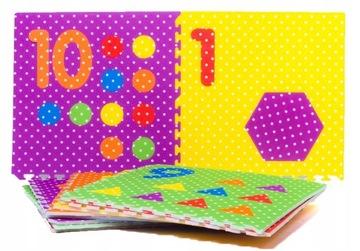 XXL penová podložka 10 cm hrubá 1cm Puzzle 61x61cm