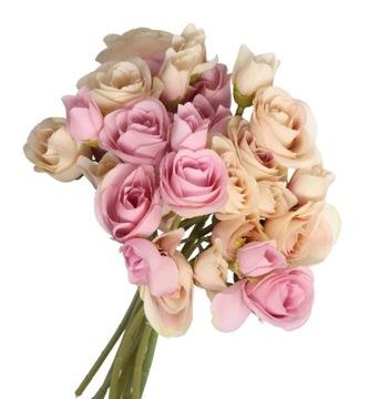 KYTICE UMELÝCH KVETOV RUŽE RUŽE 30 CM 9 POBOČIEK