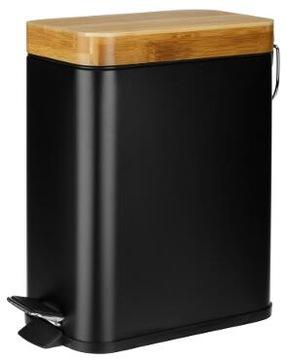 Kúpeľňový kôš 5L Kovové bambusové čierne