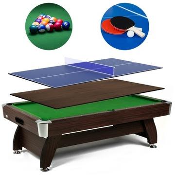 Biliard Tabuľka 7 FT s prekrytím Príslušenstvo Ping Pong