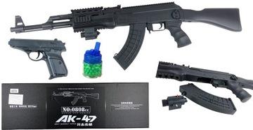 LOPTOVÁ Puška AK47 ASG LASER + LOPTY + PISTOL