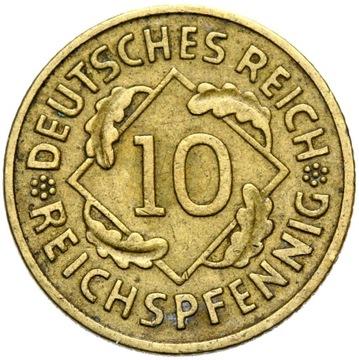 + 10 Reichsspfennig 1930 a nápis ďaleko od okrajov