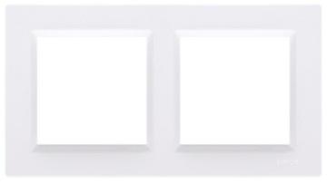 SIMON 10 Dvojitý maskovací rám, 2-násobný, biely