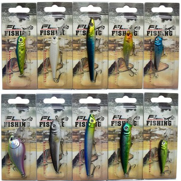 Mega Wobler Set 10ks Wobblers Pitch Pike Mix