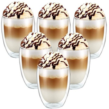 6x Termálne okuliare Latte Drinks 350ml
