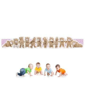 Nálepky na stenu Medvede 178x27 do detskej izby