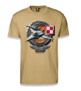 Jastrząb T-Shirt 15 rokov F-16 v Poľsku T-Shirt XL