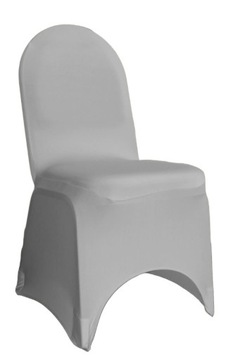 Flexibilný banketový kryt šedá na stoličke