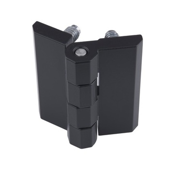 Záves s kovovými pinmi FLAT 60x60 čierna