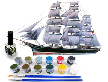Model Plachetnica Cutty Sark Paints + Lepidlo + Graktické