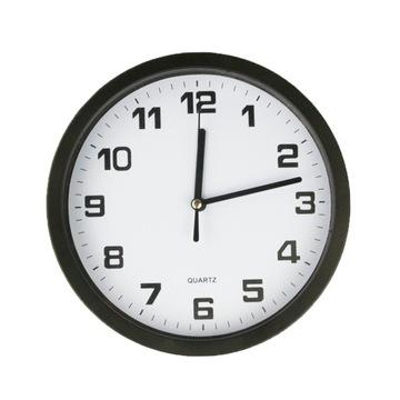 BLACK WALL CLOCK tichý s plynulými sekundami