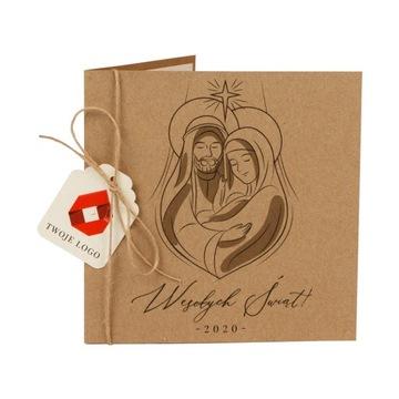 Obchodné vianočné pohľadnice, logo spoločnosti, EKO vzory