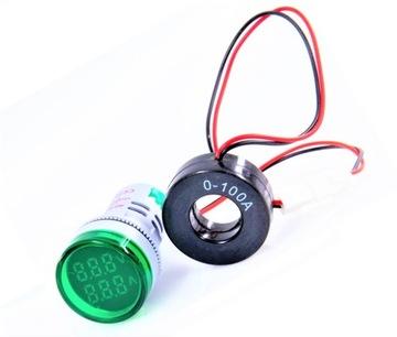 230V 100A indikátor Voltmeter Ammeter LED stádo
