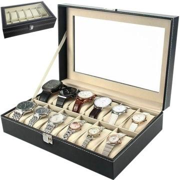 Organizér na kufríky Hodinový box na 12 kusov