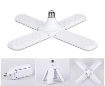 50W LED žiarovka ako štvorramenný luster