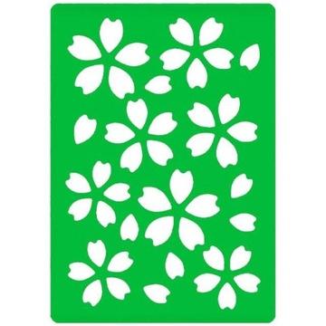 Dekoratívne plastové šablóny vzor lístky kvet