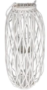 Wicker Lantern Lantern 90 cm biela dekorácia