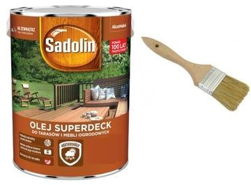 Sadolin Superdeck-olej pre terasy, 5L + kefa