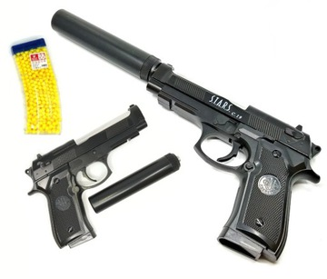 800ks KOVOVÁ guľová zbraň BERETTA C19 + TLMIČ
