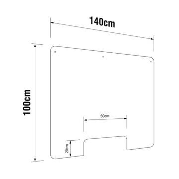 Plexi Plexi Plexi Shield na Lada 140x100 výrez