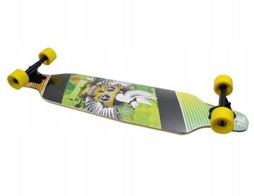 Skateboard longboard abec7 mpon veľké zelené kolesá