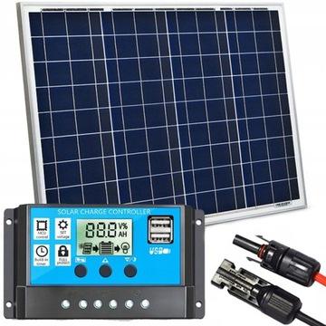 Solárny panel 50W 12V Solárny regulátor batérie