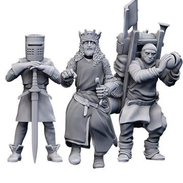 King Arthur, Black Knight, Patsy Monty Python Tím