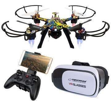 Dron s WiFi + VR okuliarov Live Preview