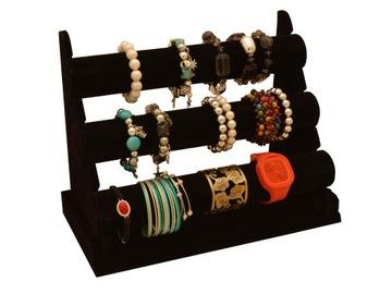 Zobraziť šperky stojana hodinky 3 rolky