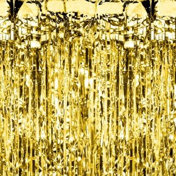 Párty záclona zlatá 100 x 200 cm