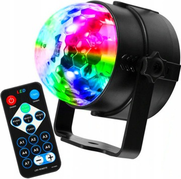 Disco Projektor Disco Sphere RGB LED svetlomet