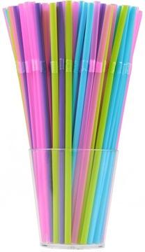 Straws trubice rozbité farebné mix narodeniny 1000ks.
