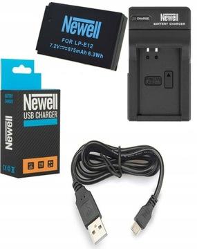 USB nabíjačka + batéria pre Canon EOS M50